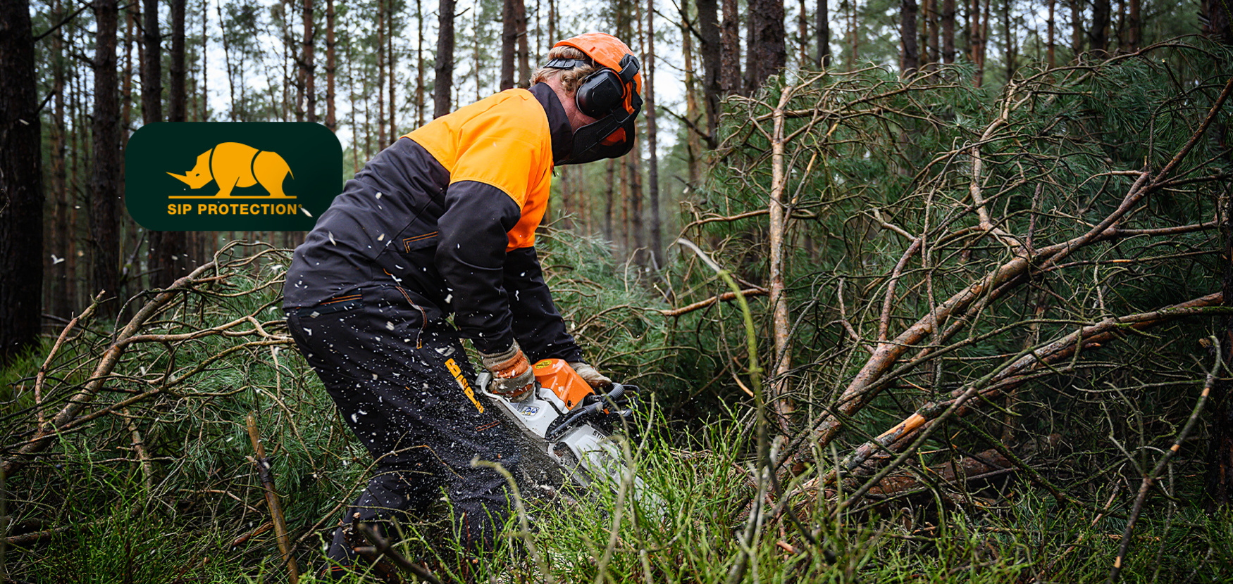 Shop SIP PROTECTION - Protective clothing for users of chainsaws#Discover the new BasePro collection#R